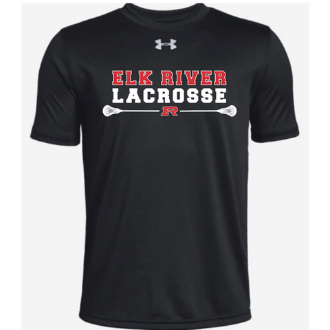 Elk River Lacrosse Youth Under Armour (Locker Tee) - Black