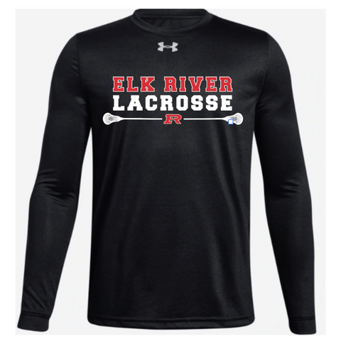 Elk River Lacrosse Adult Under Armour (Locker Tee 2.0 LS) - Black