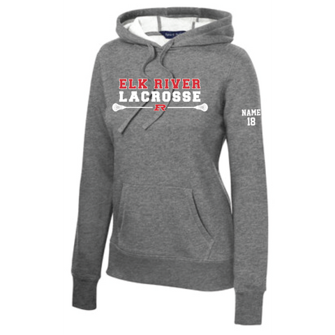 Elk River Lacrosse Women's Sport-Tek (Pullover Hooded Sweatshirt) - Heather Gray