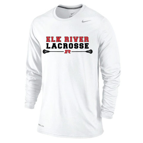 Elk River Lacrosse Men's Nike (Legend LS) - White