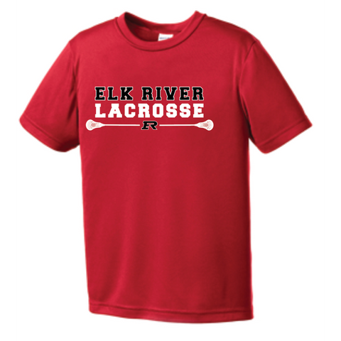 Elk River Lacrosse Youth Sport-Tek (PosiCharge® Competitor™ Tee) - Red