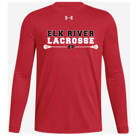 Elk River Lacrosse Youth Under Armour (Locker Tee LS) - Red