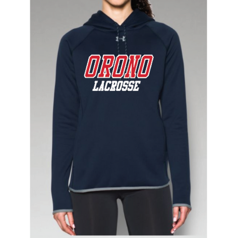 Orono Lacrosse Women's Under Armor (Dbl Threat AF Hoody) Navy