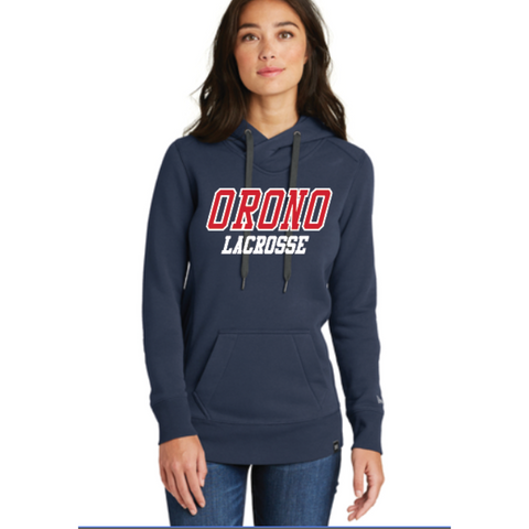 Orono Lacrosse Women's New Era® (French Terry Pullover Hoodie) Navy