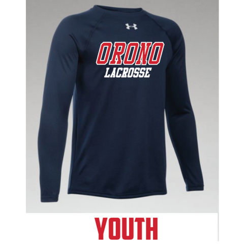 Orono Lacrosse Youth Under Armour (Locker T LS) Navy