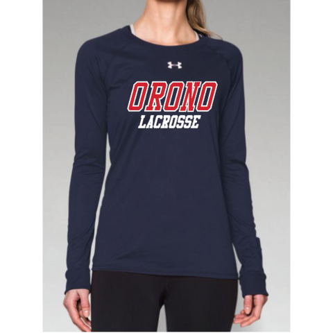 Orono Lacrosse Women's Under Armour (Locker LS) Navy