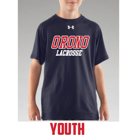 Orono Lacrosse Youth Under Armour (Locker T SS) Navy