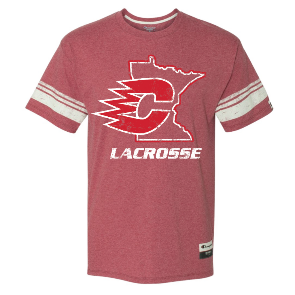 Centennial Lacrosse Adult Champion (Originals Triblend Varsity Tee) Red