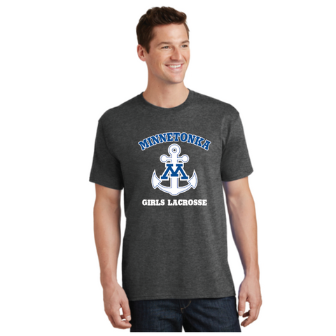 Minnetonka Lacrosse Port & Company (Core Cotton Tee) Graphite Heather