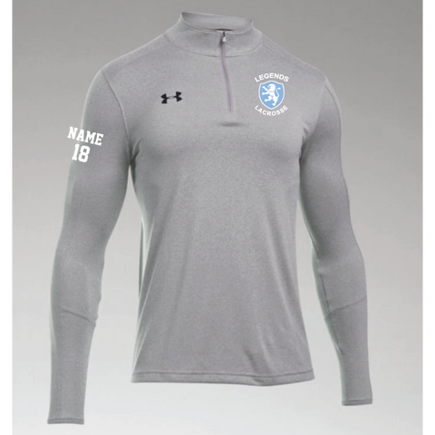 Legends Lacrosse Men's Under Armour (Locker 1/4 Zip) Gray