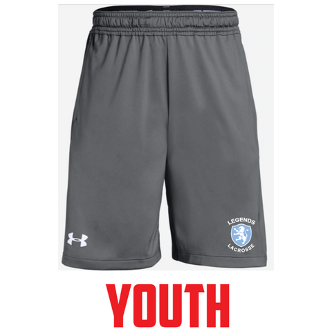 Legends Lacrosse Youth Under Armour (Raid Pktd Short 2.0) Gray