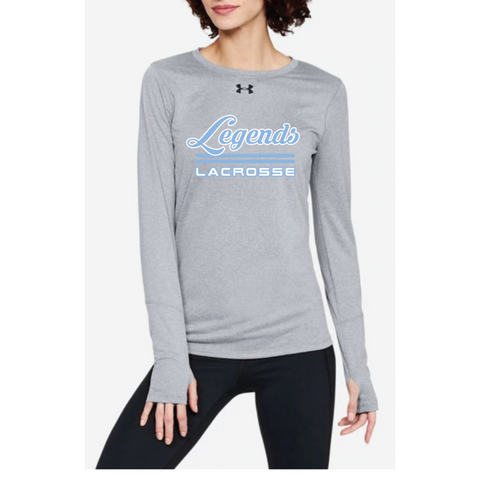 Legends Lacrosse Women's Under Armour (Locker LS 2.0) Gray