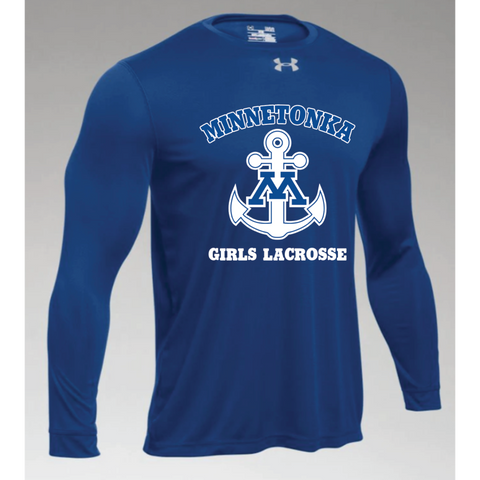 Minnetonka Lacrosse Men's UA (Locker Tee 2.0 LS) Royal
