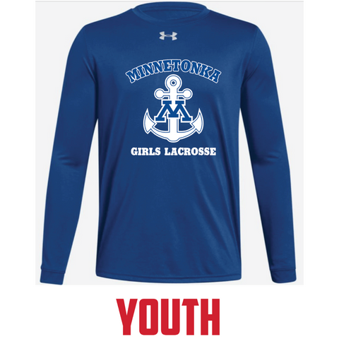 Minnetonka Lacrosse Youth UA (Locker Tee LS) Royal