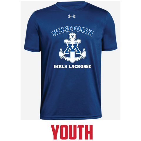 Minnetonka Lacrosse Youth UA (Legend Poly SS) Royal