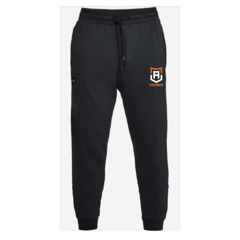 Alpha Lacrosse Men's Under Armour (RIVAL FLEECE JOGGER) Black