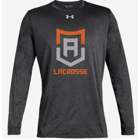 Alpha Lacrosse Adult Under Armour (Locker Tee 2.0 LS) Carbon Heather