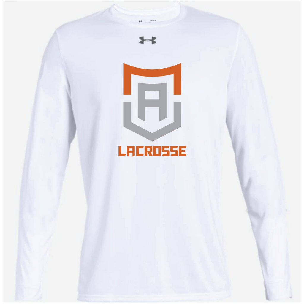 Alpha Lacrosse Adult Under Armour (Locker Tee 2.0 LS) White