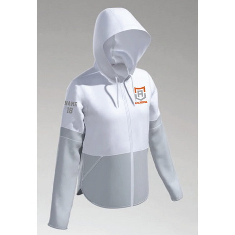Alpha Lacrosse Women's Under Armour (Squad 2.0 Woven Jacket) White