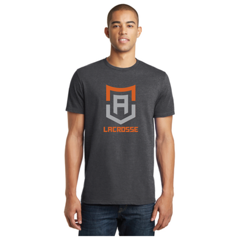 Alpha Lacrosse Adult District (Crew Tee) Heathered Charcoal