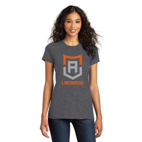 Alpha Lacrosse Women's District (Fitted The Concert Tee) Heathered Charcoal