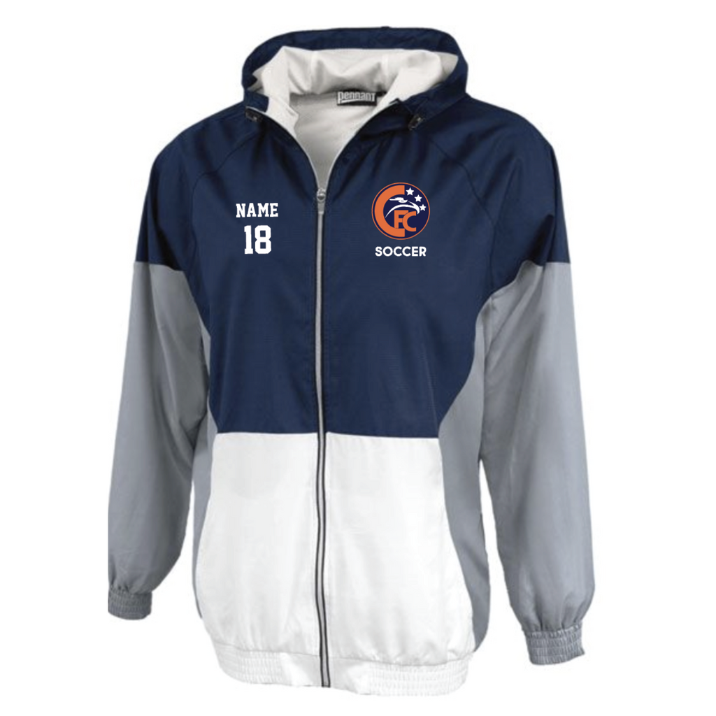 Cooper Soccer Adult Pennant (Trident Jacket) - Navy/White/Grey