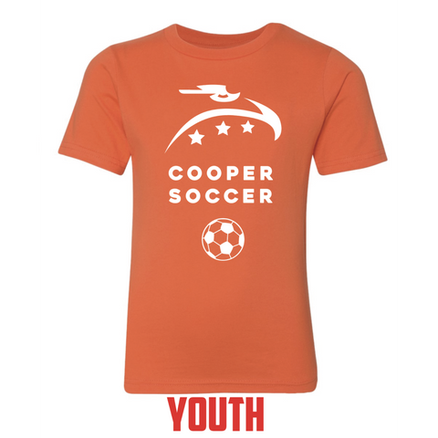 Cooper Soccer Youth Next Level (Premium Short Sleeve Crew) Orange