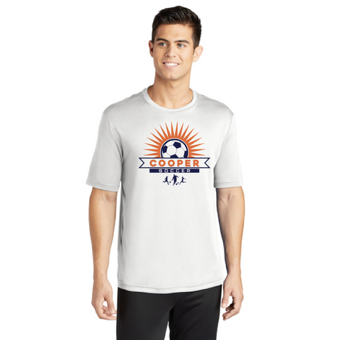Cooper Soccer Adult Sport-Tek (LS PosiCharge Competitor Tee) White