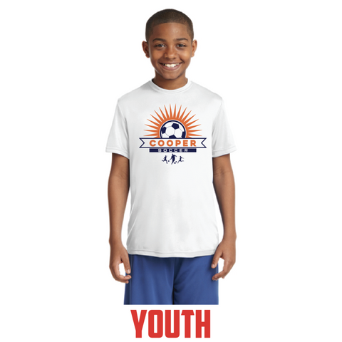 Cooper Soccer Youth Sport-Tek (PosiCharge® Competitor™ Tee) White