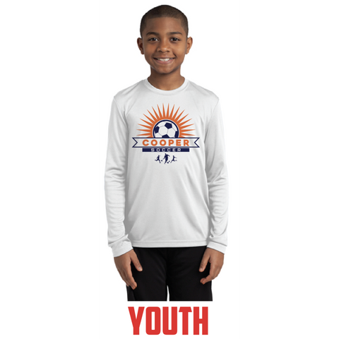 Cooper Soccer Youth Sport-Tek (Long Sleeve PosiCharge® Competitor™ Tee) White