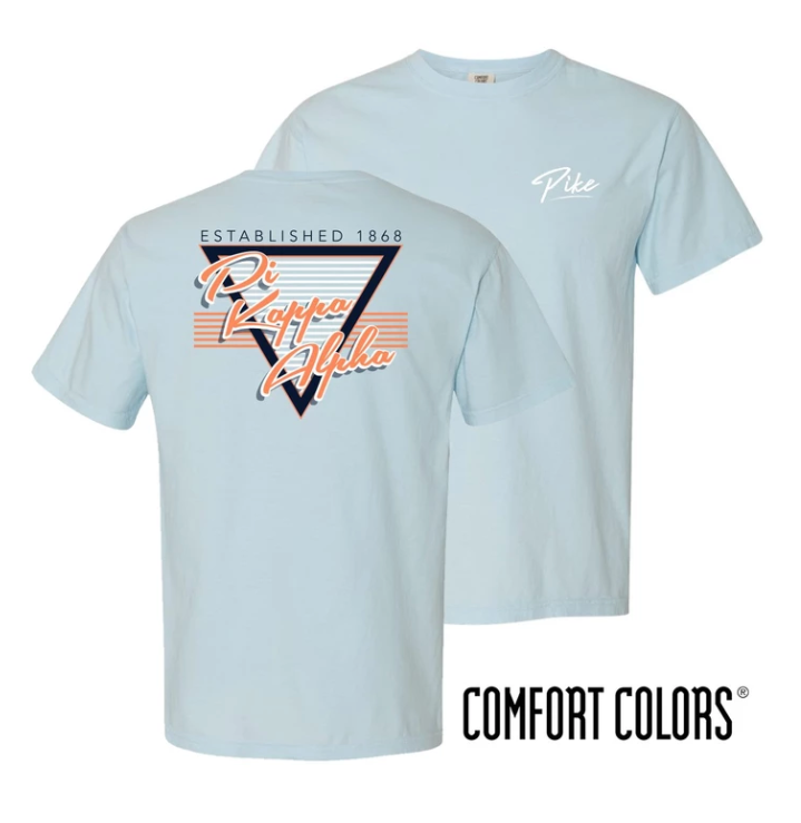 Pike Comfort Colors Retro Flash Tee - Chambray