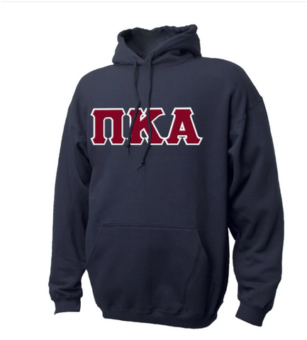 Pike Russel Athletics Sim Stitch Letter Hoodie - Navy