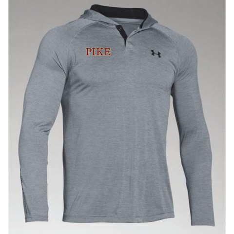 PIKE Men's Under Armor (Tech™ Popover) Steel