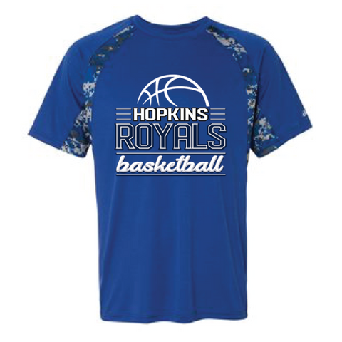 Hopkins Basketball Men's Badger (Digital Camo T-Shirt) Royal