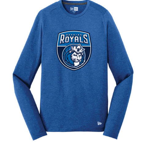 Hopkins Basketball Men's New Era (Series Performance Long Sleeve Crew Tee) Royal
