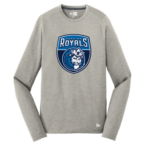 Hopkins Basketball Men's New Era (Series Performance Long Sleeve Crew Tee) Gray