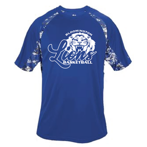 Bloomington Basketball Youth Badger (Digital Camo T-Shirt) Royal