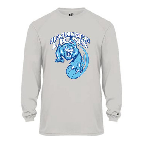 Bloomington Basketball Youth Badger (Ultimate SoftLock™ LS) Silver