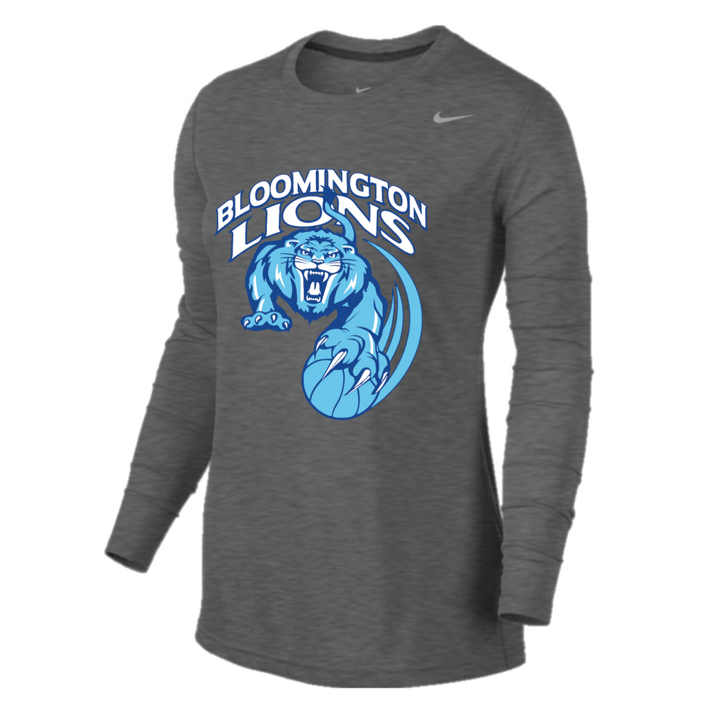 Bloomington Basketball Women's Nike (LEGEND Long Sleeved) Gray