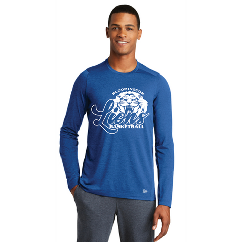 Bloomington Basketball Men's New Era (Series Performance Long Sleeve Crew Tee) Royal