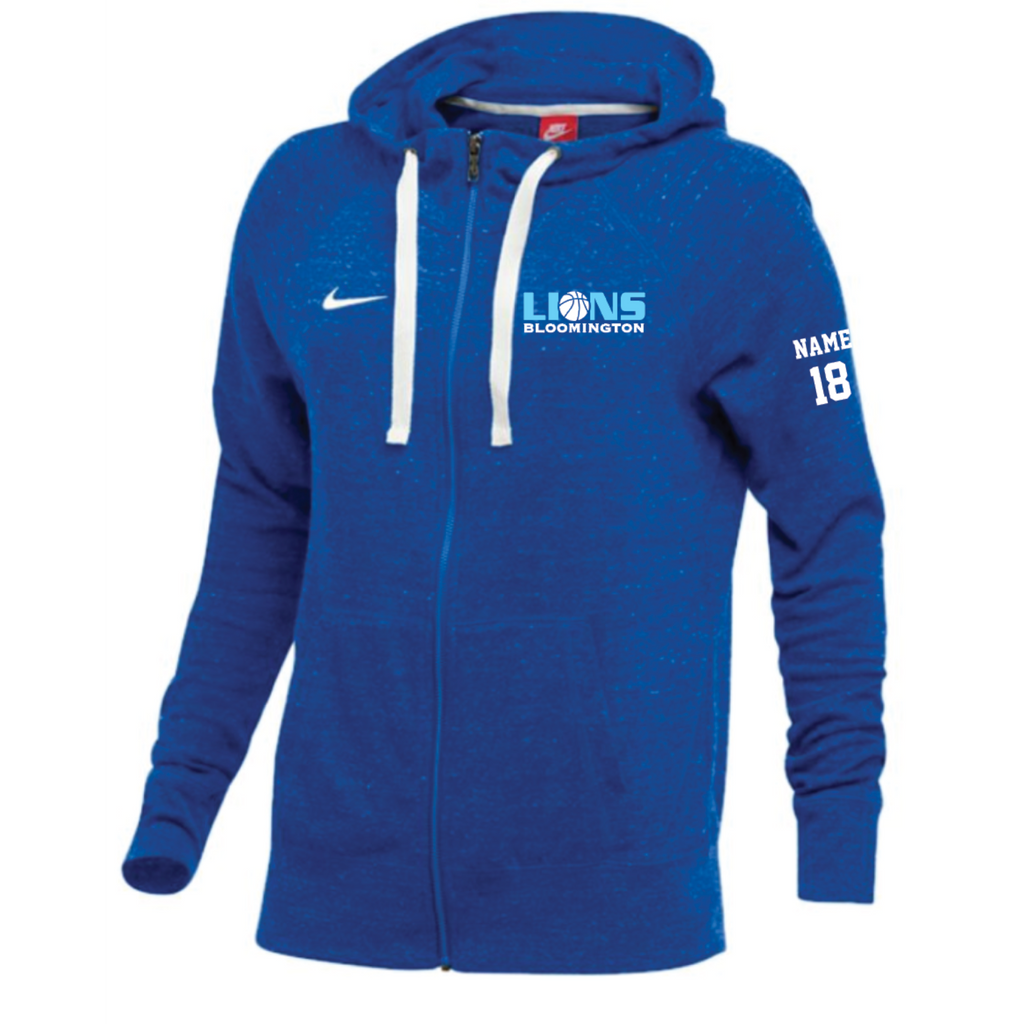 Bloomington Basketball Women's Nike (GYM Vintage Fleece Hoodie) Royal