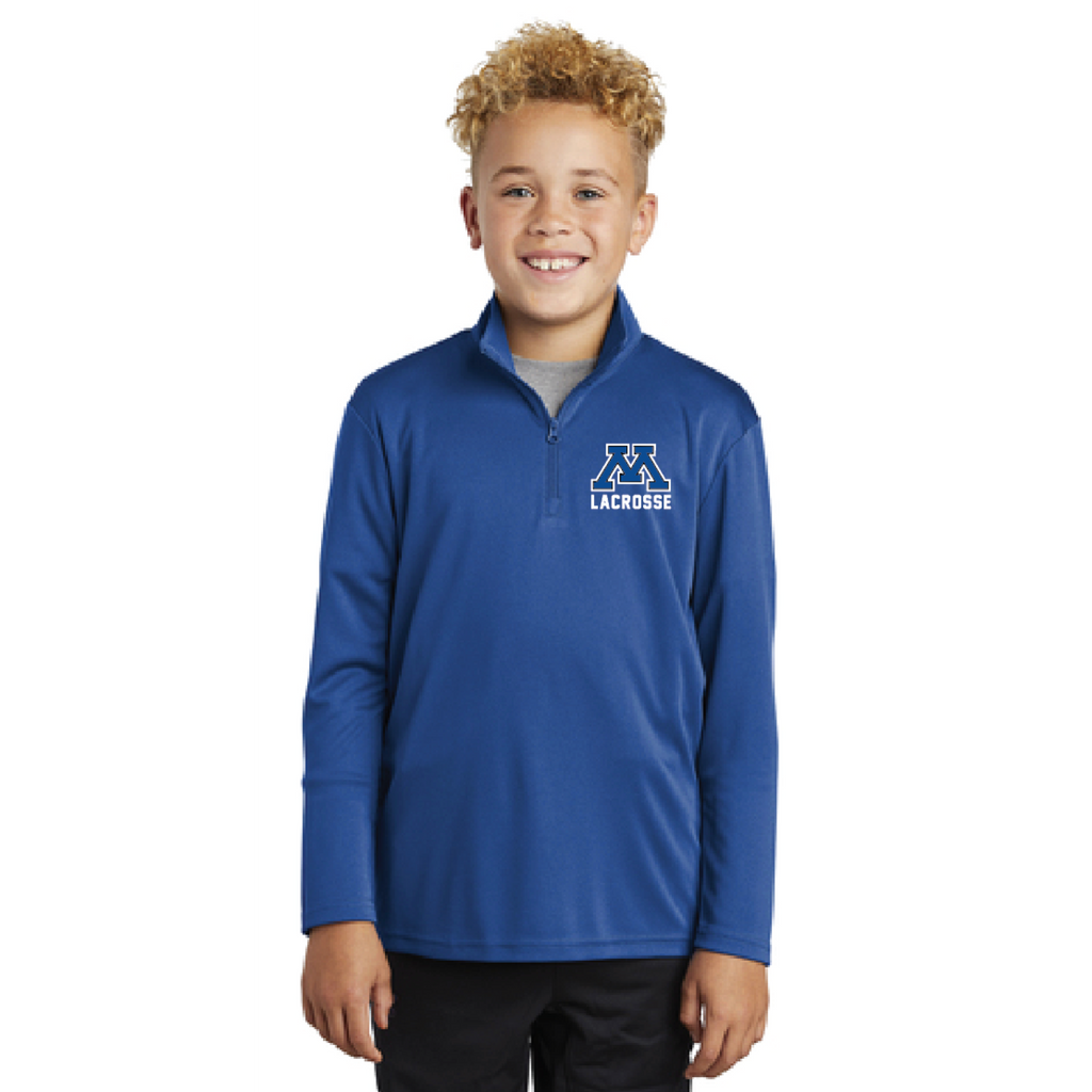 Minnetonka Lacrosse Youth Sport-Tek (PosiCharge Competitor 1/4-Zip Pullover) Royal