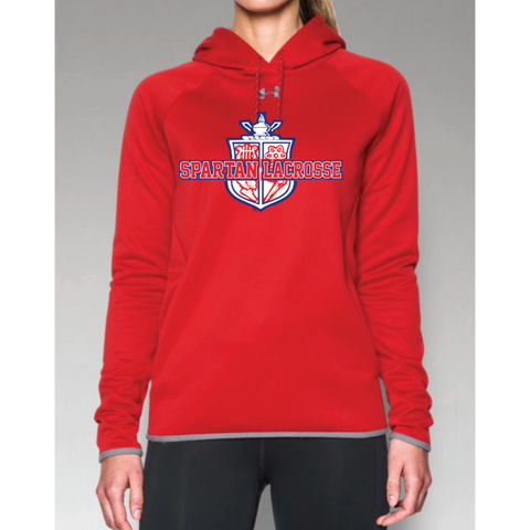 Simley Lacrosse Women's Under Armour (Dbl Threat AF Hoody) Red