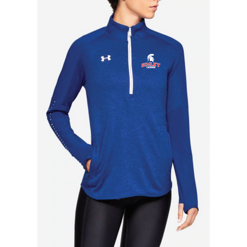Simley Lacrosse Women's Under Armour (Qualifier Hybrid 1/2 Zip) Royal