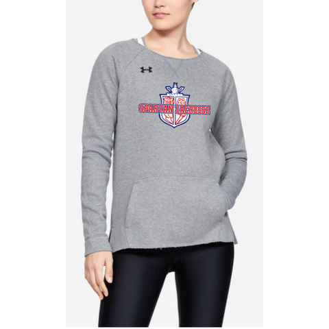 Simley Lacrosse Women's Under Armour (Hustle Fleece Crew) Gray