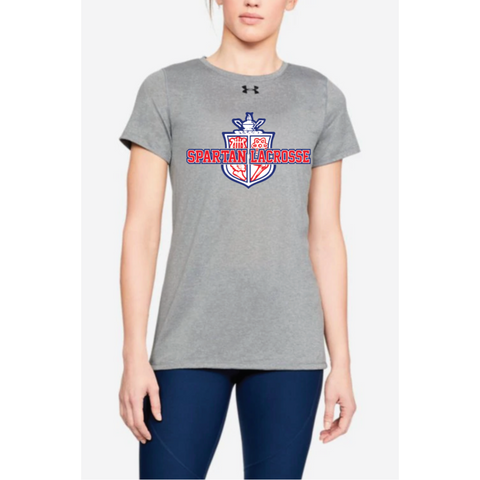 Simley Lacrosse Women's Under Armour (Locker Tee 2.0) Gray