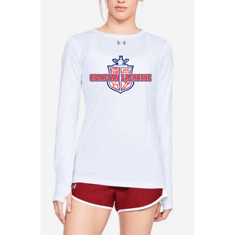 Simley Lacrosse Women's Under Armour (Locker LS 2.0) White