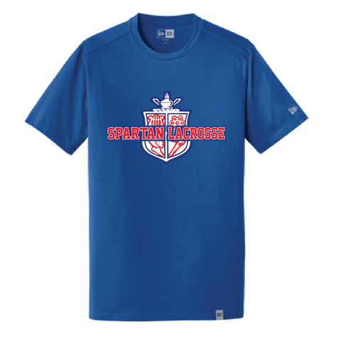 Simley Lacrosse Men's New Era (Heritage Blend Crew Tee) Royal