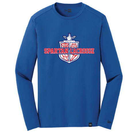 Simley Lacrosse Men's New Era (Heritage Blend Long Sleeve Crew Tee) Royal