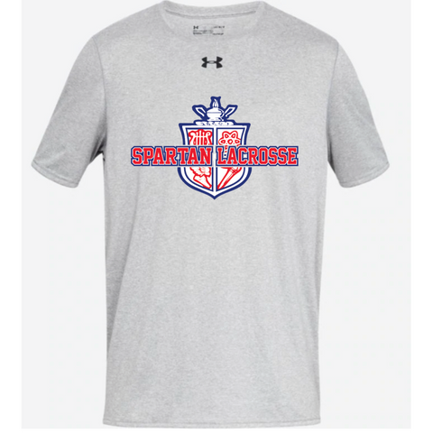 Simley Lacrosse Adult Under Armour (Locker Tee) Light Gray